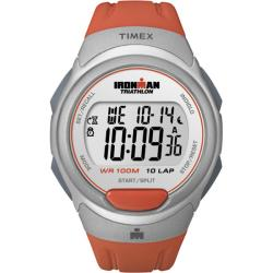 Timex Women's T5K611 Ironman Traditional 10-Lap Orange Sunset/Silvertone Watch
