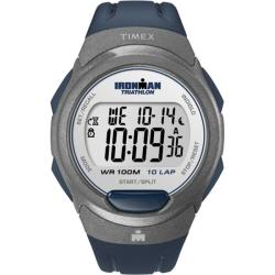 Timex Men's T5K610 Ironman Traditional 10-Lap Blue/Silvertone Watch