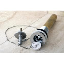 Satin Nickel with Removable Rubber Stopper Bathroom Drain