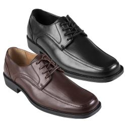 Boston Traveler Men's Topstitched Lace-up Square Toe Oxfords