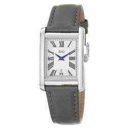 ESQ by Movado Women's Filmore Silver Dial Satin Over Leather Watch