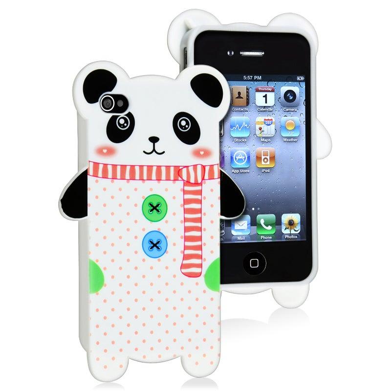 Panda Shape Cutting TPU Rubber Skin Case for Apple iPhone 4/ 4S