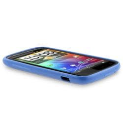 Blue Jelly TPU Rubber Skin Case for HTC Sensation 4G