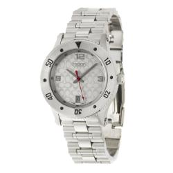 Coach Men's Sport Silver Dial Stainless Steel Watch