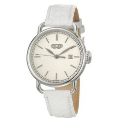 Coach Hamptons Women's Silver Dial Patent Leather Watch