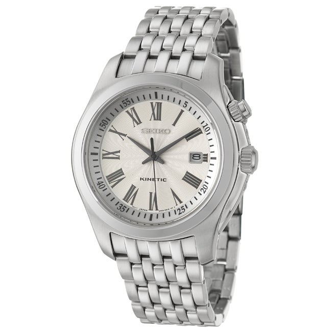 Seiko Men's Kinetic Stainless Steel Watch