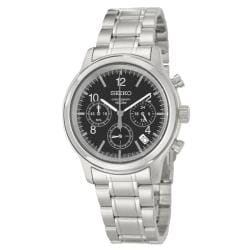 Seiko Men's Chronograph Stainless Steel Military Time Watch