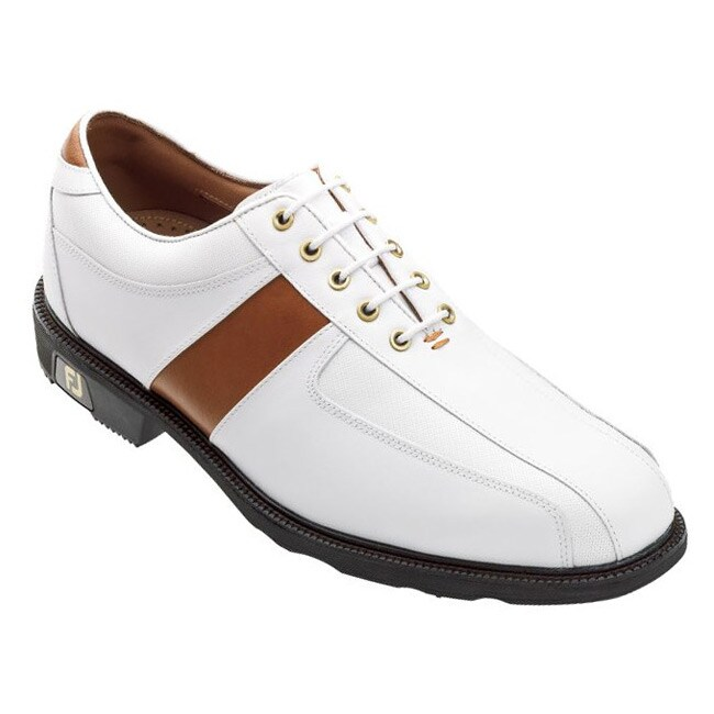 FootJoy Men's Icon Sport Saddle White/ Red Golf Shoes
