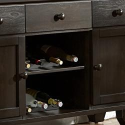 Callington Rich Espresso Walnut 3-drawer Wine Rack Server
