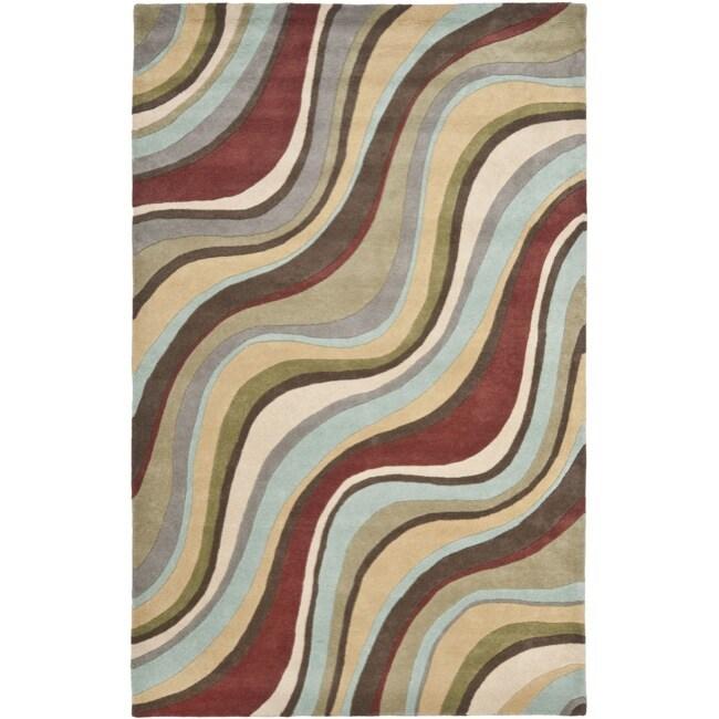 Safavieh Handmade Soho Waves New Zealand Wool Rug (7'6 x 9'6)