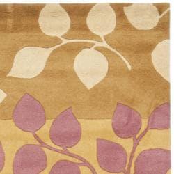 Handmade Soho Garden Red New Zealand Wool Rug (7'6 x 9'6)