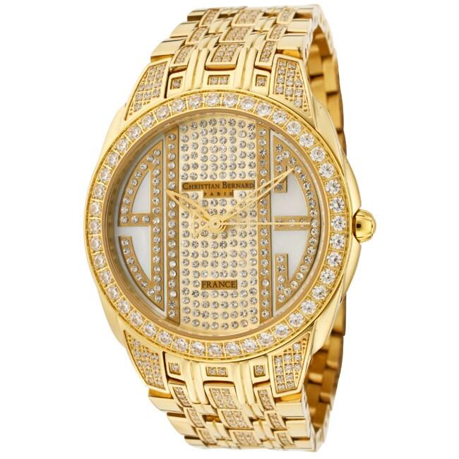 Christian Bernard Women's 'City Light' Goldtone Ion-Plated SS Watch