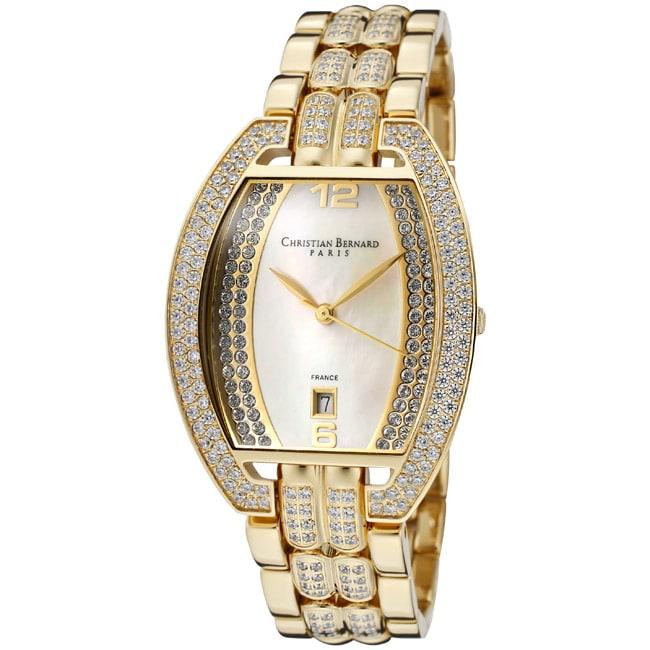 Christian Bernard Men's 'Daylight' Goldtone Ion-Plated SS Watch