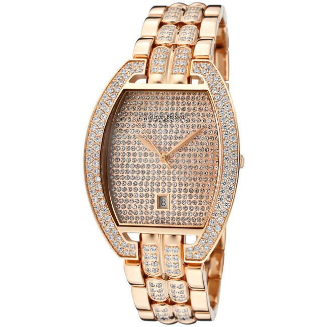 Christian Bernard Men's 'Daylight' Rose Goldtone Ion-Plated Stainless Steel Watch