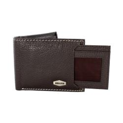 Brand Brown Leather Bi-fold Wallet