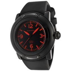 Glam Rock Unisex 'Miami Beach' Black Silicone Watch