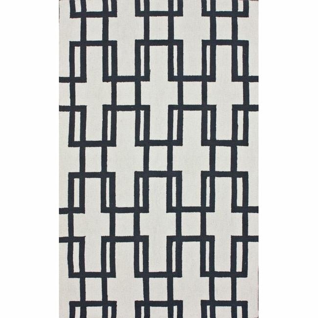nuLOOM Handmade Trellis Ivory Wool Rug (7'6 x 9'6)