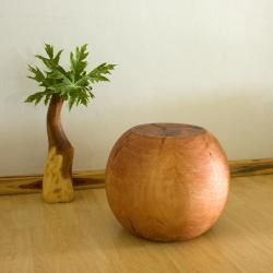 Mango Wood Ball End Table (Thailand)
