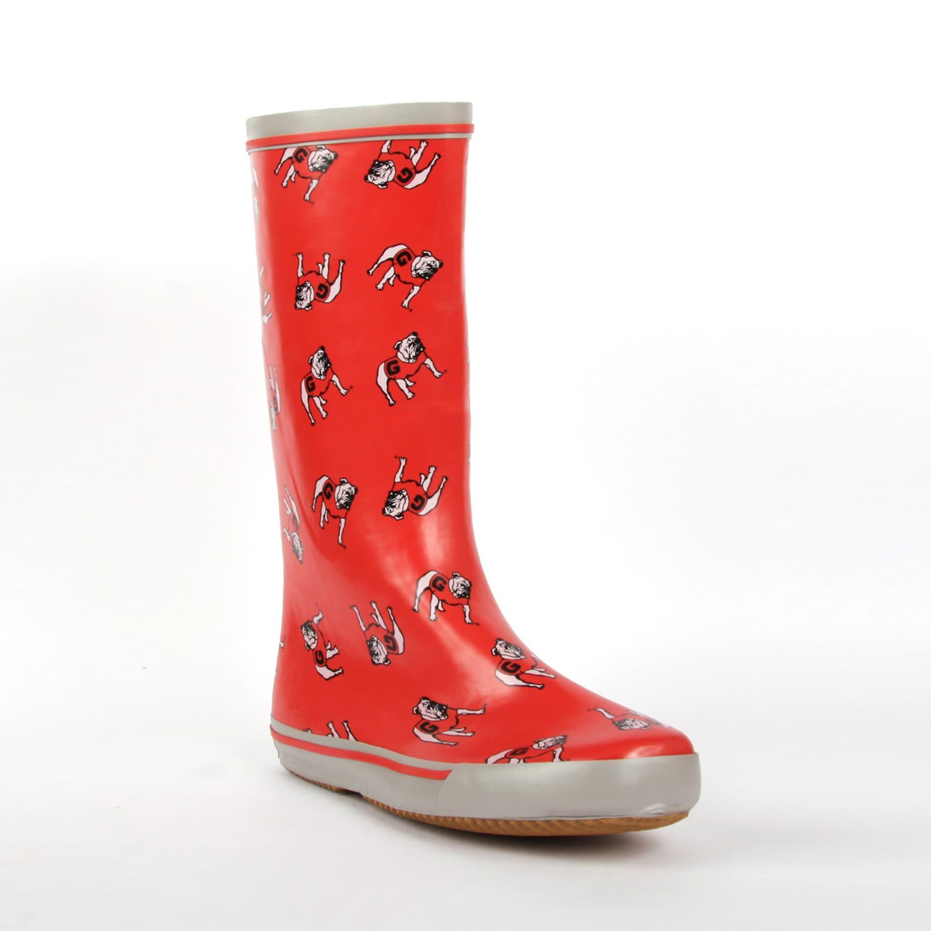 Georgia Bulldogs Women's Scattered Logo Rain Boots