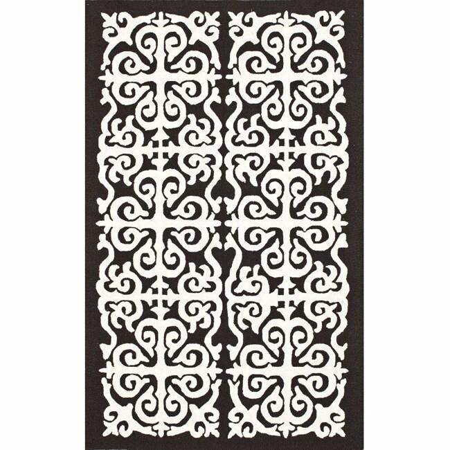 nuLOOM Handmade Marrakesh Fez Brown Wool Rug (7'6 x 9'6)