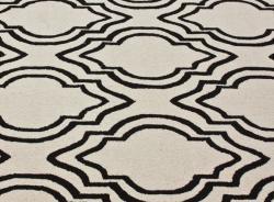 nuLOOM Handmade Modern Trellis Natural Wool Rug (7'6 x 9'6)