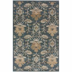 nuLOOM Handmade Mona Arts and Crafts Slate Wool Rug (5' x 8')