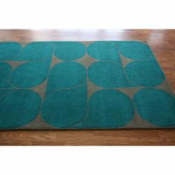 nuLOOM Handmade Bubbles Wool Rug (5' x 8')