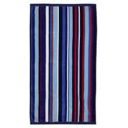 Luxury Striped Cotton Velour Beach Towel