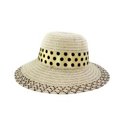 Faddism Women's Beige Bow Detail Sun Hat