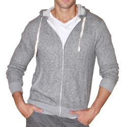 191 Unlimited Men's Grey Terry Cloth Hoodie