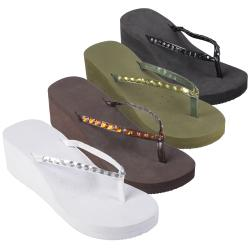 Journee Collection Womens 'GABRIELLE-5' Round Toe Platform Flip Flops