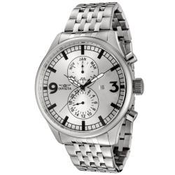 Invicta Men's Ii 0366 Silver Stainless-Steel Swiss Quartz Watch