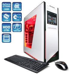 CyberpowerPC Zeus Thunder GLC2040 w/ Intel i7-3820 3.6GHz Liquid Cool Gaming Computer