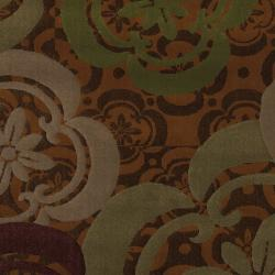 Banister Caramel Floral Rug (5'3 x 7'10)