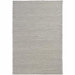 Hand-woven Braided Mandara Ivory Wool Rug (5' x 7'6)