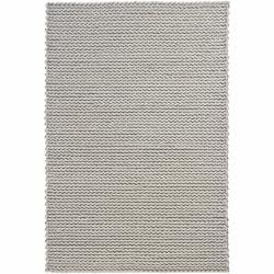 Hand-woven Braided Mandara Ivory Wool Rug (7'9 x 10'6)