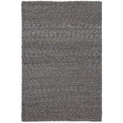 Hand-woven Braided Mandara Grey Wool Rug (7'9 x 10'6)