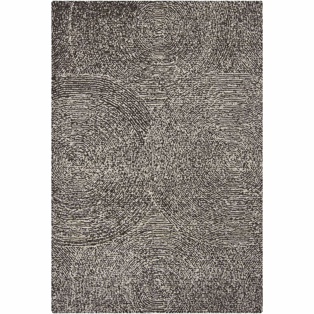 Hand-tufted Mandara Floral Brown/ Ivory Wool Rug (5' x 7'6)