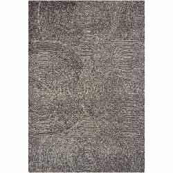Hand-tufted Mandara Floral Brown/ Ivory Wool Rug (5' x 7'6)