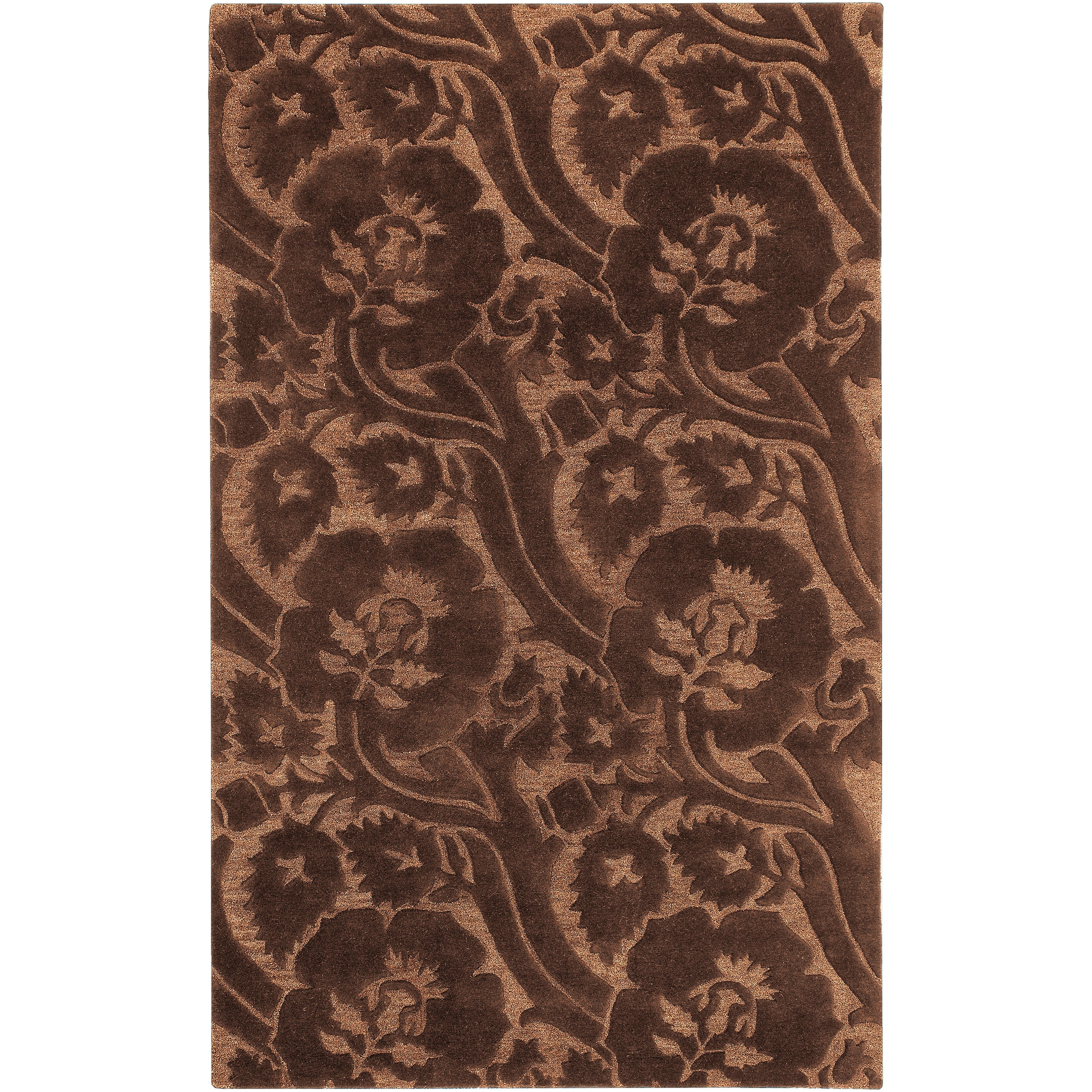 Hand Tufted Brown Natalie New Zealand Wool Rug (3'3 x 5'3)