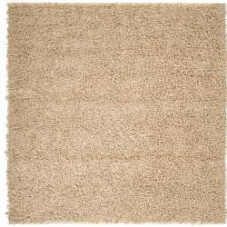 Hand-woven Quintess Natural Fiber Jute Shag Rug (8' Square)