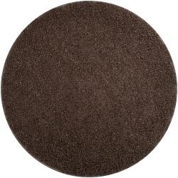 Hand-woven Brown Quintess Natural Fiber Jute Shag Rug (6' Round)