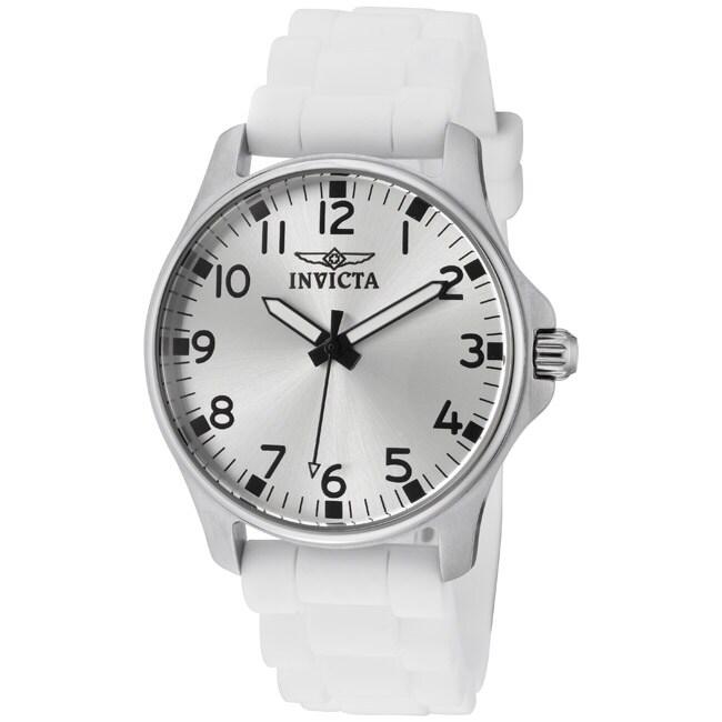 Invicta Women's 'Wildflower' White Silicone Watch