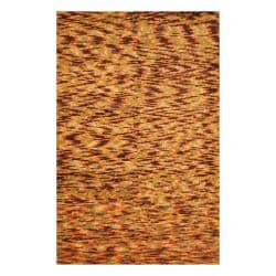 Indo Hand-knotted Tibetan Green/ Burgundy Wool Rug (3'8 x 5'6)