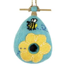Felt Flower Bee Birdhouse (Nepal)