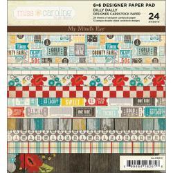 Miss Caroline Dilly Dally 6x6-inch Paper Pad