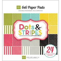 Dots & Stripes Soda Fountain 6x6-inch Cardstock Paper Pad