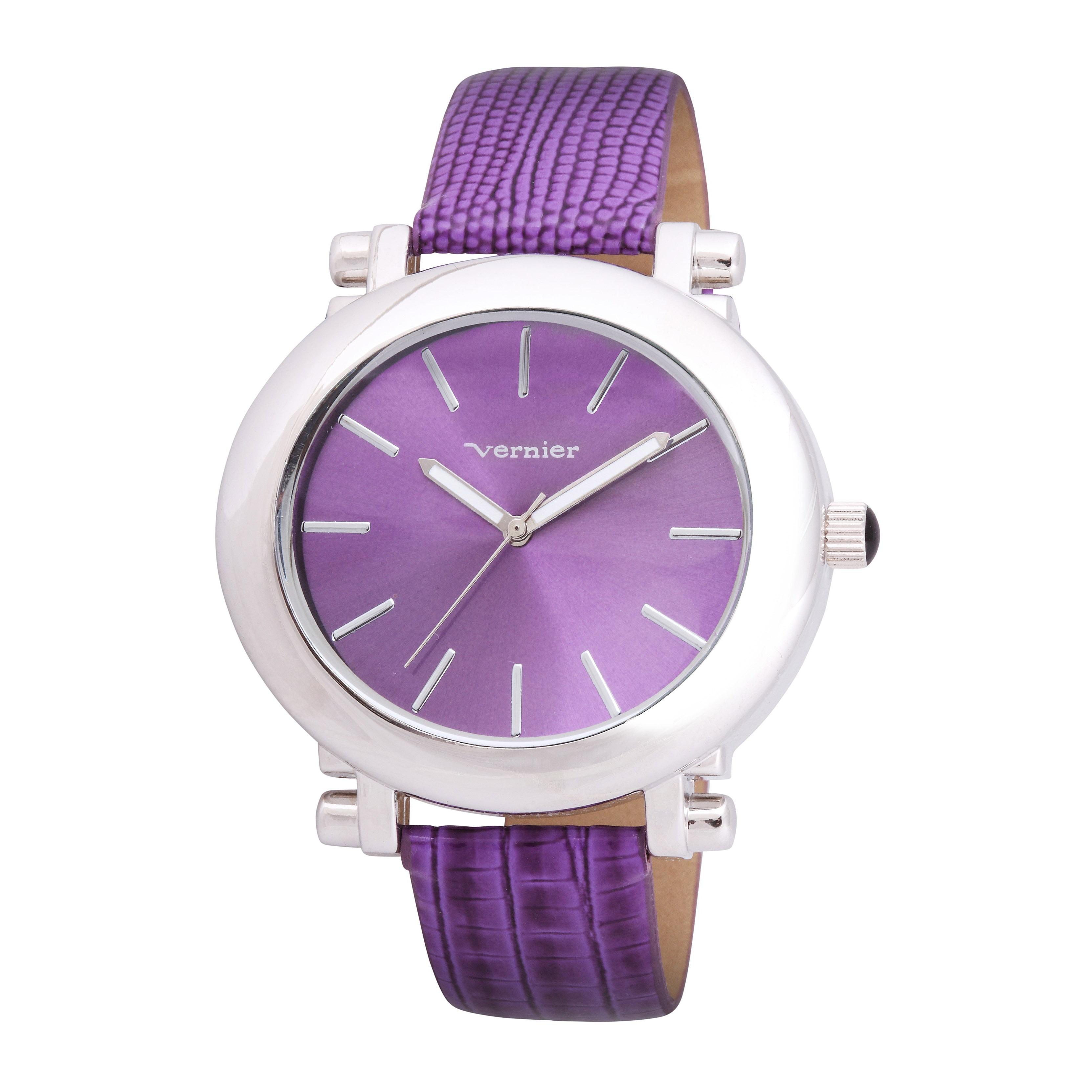 Vernier Women's V11038 Retro Wide Oval Dial Watch
