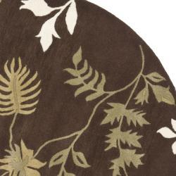 Safavieh Handmade Soho Twigs Brown New Zealand Wool Rug (6' Round)