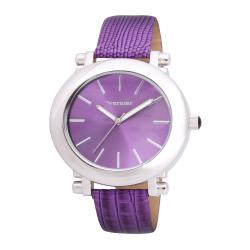 Vernier Women's V11038 Retro Wide Oval Dial Watch